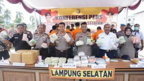 21 Kg Shabu dan 22 Kg Ganja Berhasil di Ungkap Polres Lampung Selatan